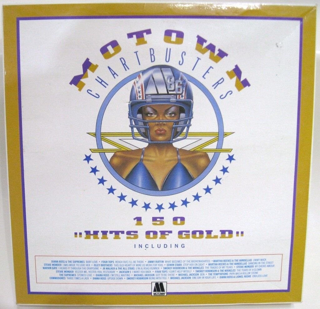 MOTOWN GOLD 150 Tracks on 9 individually Sleeved Vinyl Records Boxed Set ---- £8