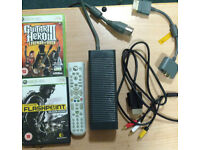 Xbox 360 headset power supply av cable and games