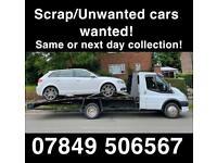 Scrap/unwanted car wantee