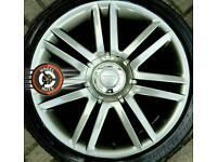 "18"" Audi S3 alloys 5x112 refurbished Gunmetal 4 Bridgestone tyres."