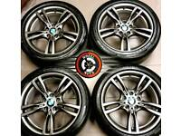 """Stunning 18"""" Genuine BMW M Sport 3 series alloys staggered fitment perfect condition premium tyres."""
