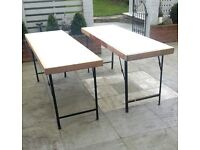 Folding Sturdy Trestle Tables 6ft x 2ft - 2 off
