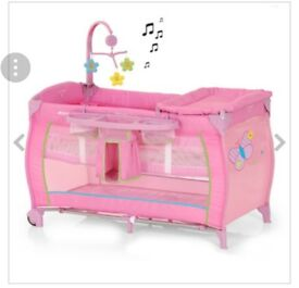 Pink Hauck Cot Bed