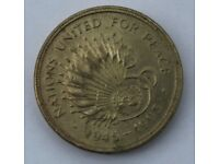 Two Pound Coin - Nations United for Peace
