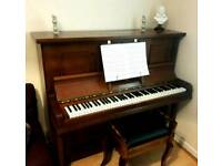 Upright,overstrung,oak piano