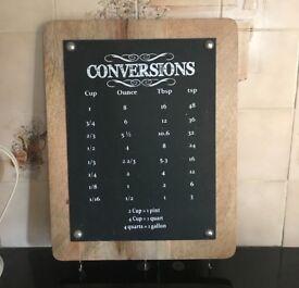 Wooden conversion kitchen board
