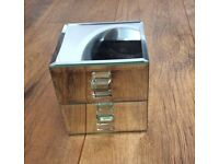 New Glass jewellery box by next