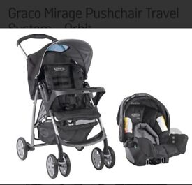 Graco Mirage Pushchair Travel System - Orbit