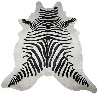 Super Size Genuine Cow Hide - Skin with Zebra Print Finish, used for sale  Shipping to South Africa