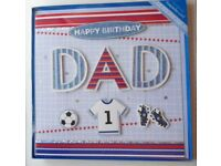 Handcrafted Gifted Handmade Dad Keepsake Birthday Cards. Boxed.