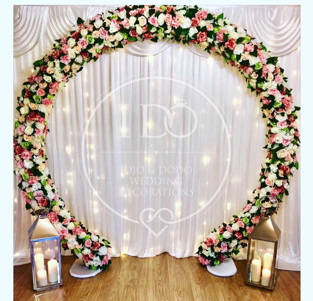 Professional Wedding Decorations - Flower Arch, Backdrop, Sweet Cart ...
