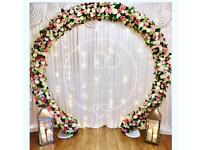 Professional Wedding Decorations - Flower Arch, Backdrop, Sweet Cart, Love Letters To Hire