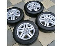 Alloys wheels fit vw 15 inch 4 new tyres