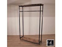 Industrial Clothes Rail Wardrobe Display Shelf Open Rack Stand Shop Storage FREE UK DELIVERY