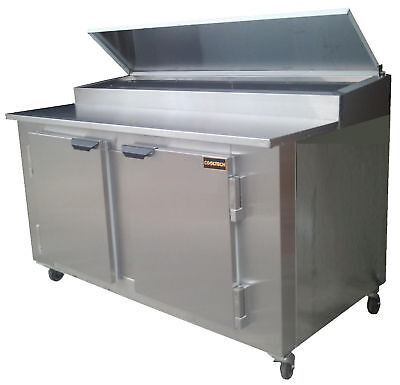 New Cooltech 2-door Refrigerated Pizza Prep Table 60