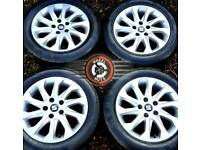 "16"" Genuine alloys Seat VW Caddy etc excellent cond excellent premium tyres."