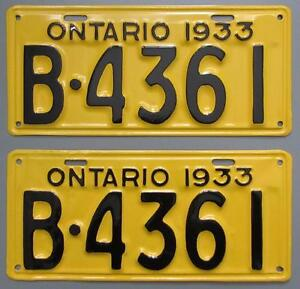 Classic Car YOM License Plates - Ministry Approval Guaranteed Kitchener / Waterloo Kitchener Area image 2