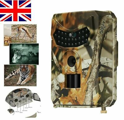 Trail Camera 12MP 1080P Game Camera with No Glow Night Vision Wildlife Hunting