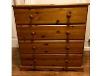 Solid Pine Chest if Drawers