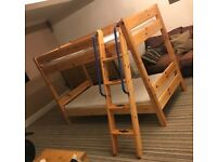 Solid Pine Bunk Bed - Excellent Quality in very good condition.