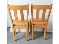 2 Dining room chairs. Solid wood