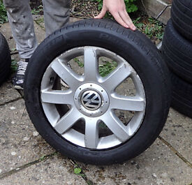 GOLF GTI MK5 ALLOY WHEELS SET OF 4 WITH CENTRE CAPS 16""
