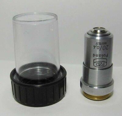 Pzo Achromat Objective 20x 040 Microscope Biolar Zeiss
