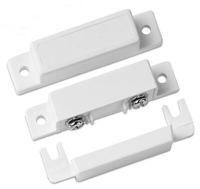 - White Door Window Security System Alarm Magnetic Contact Switch w/Magnet