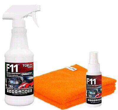 F11 TopCoat Master-Craftsman Polish & Sealer-16 oz & 2oz  & 2 microfiber towels