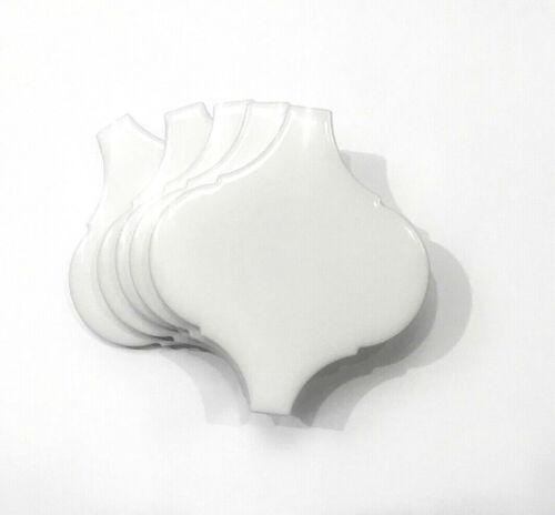 "White Lantern 2 7/6""x 3"" Porcelain Tile Decorative Insert Backsplash (PACK OF 5)"