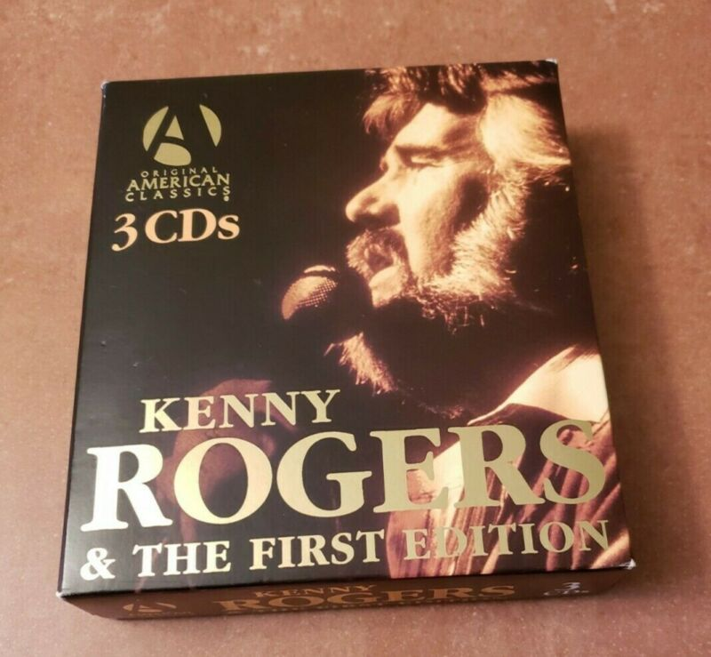 KENNY ROGERS THE FIRST EDITION 3 CD Box Set country pop DISCS RARE Booklet Ruby
