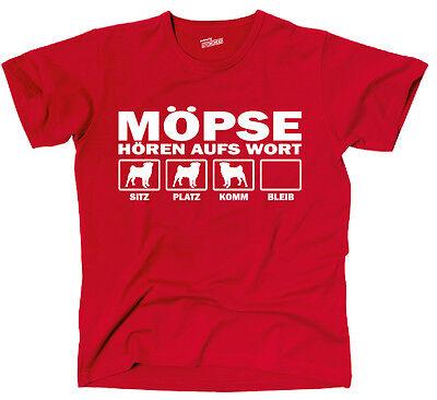 unde Möpse Mops Hören aufs Wort Mopsmotiv Siviwonder  (Erwachsener Mops)