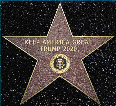 President Donald Trump 2020 Keep America Great! Hollywood Star Sticker - Hollywood Star Stickers