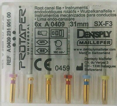 Dental Dentsply Rotary Protaper Universal Engine Niti Files 31 Mm Sx-f3