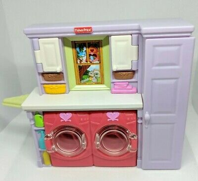 🌟 Fisher-Price Loving Family Dollhouse Laundry Room Dryer Iron Retired Play Set