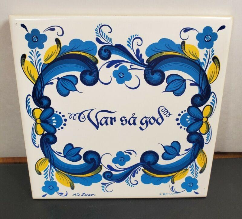 """Berggren """"Var Sa God"""" Ceramic Tile"""