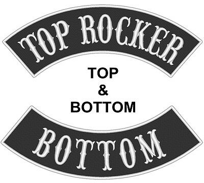 "Custom Embroidered 13"" Top And Bottom Rocker Biker MC Club  Sew on Patch (B)"