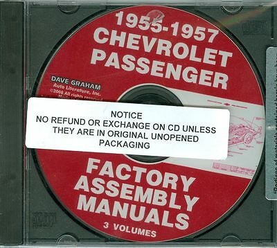 1955 56 57 Chevy Passenger Car Assembly Manual On Cd