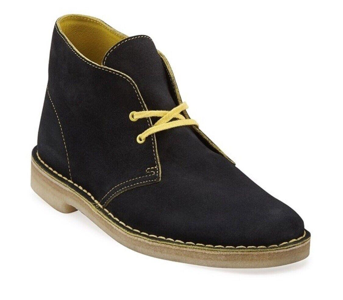 Clarks Originals Desert Black/Yellow Suede Men's. 61274