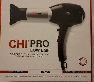 CHI Pro Low EMF Black Ceramic Hair Diffuser, Concentrator 1500 Watts