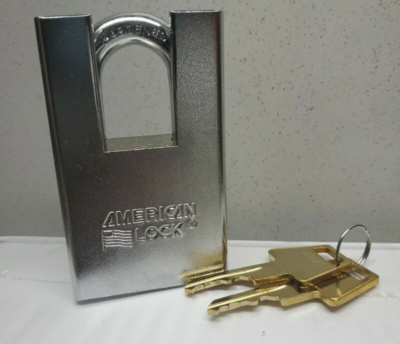 """American Lock A5360 2""""  Shrouded Solid Steel Keyed Different Rekeyable Pin New"""