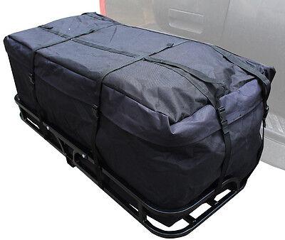 "50"" High Lift CAR RV 2'' Hitch Mount Cargo Carrier Luggage Basket w/Cargo Bag"