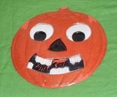 vintage Germany Halloween SMILING JACK-O-LANTERN JOL WITH TEETH DECORATION