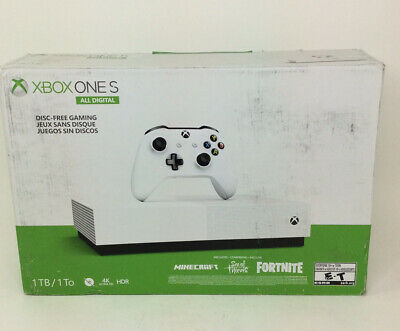 """Microsoft Xbox One S 1TB Console - """"All Digital"""" PLAYED ONCE"""