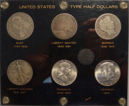 U.S. Half Dollar Type Set,  NICE SET  1015-12