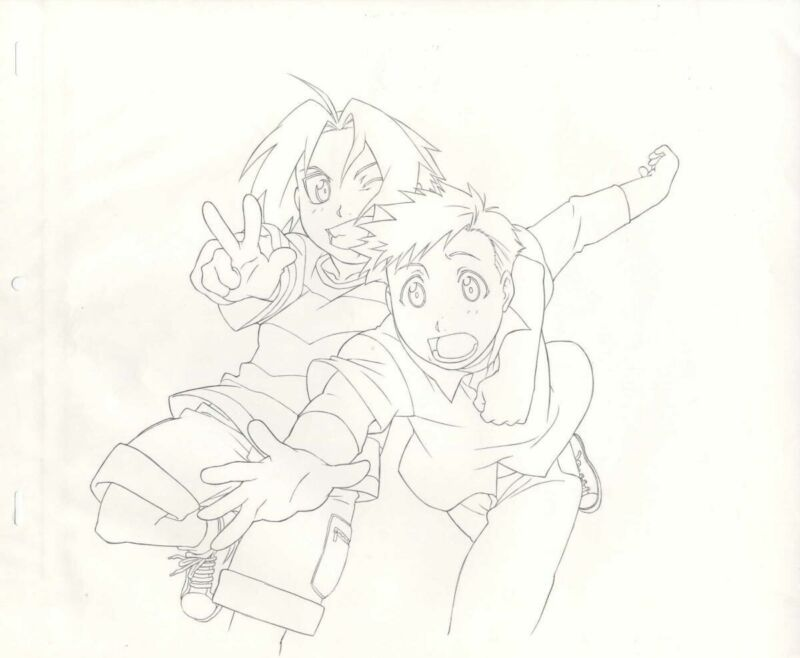 Anime Genga not Cel Full Metal Alchemist Hanken 2 pages #6