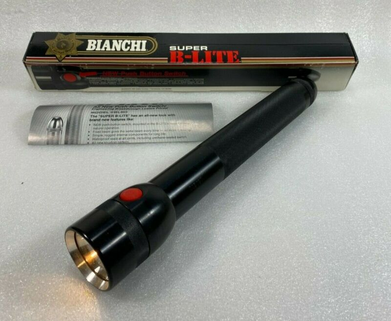 Vintage Bianchi Super B Lite Flashlight, 4 D Cell