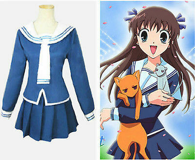 Anime Fruits Basket Tohru Honda Halloween Cosplay Costume Custom Free Shipping
