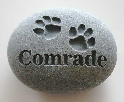Paw Prints Pet Memorial Custom Engraved Memorial Stone Pet Loss Personalized - CA$30.00