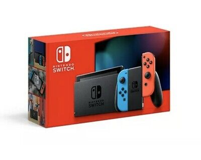 Nintendo Switch Console Neon Red/Blue Joy-Cons 32GB HAC-001(-01) V2 New Version